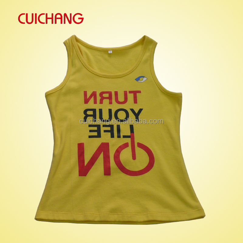 woman's tank top with printing / High quality dri fit women tank top AT-422