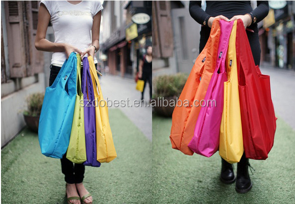 New recycle foldable nylon shopping bag