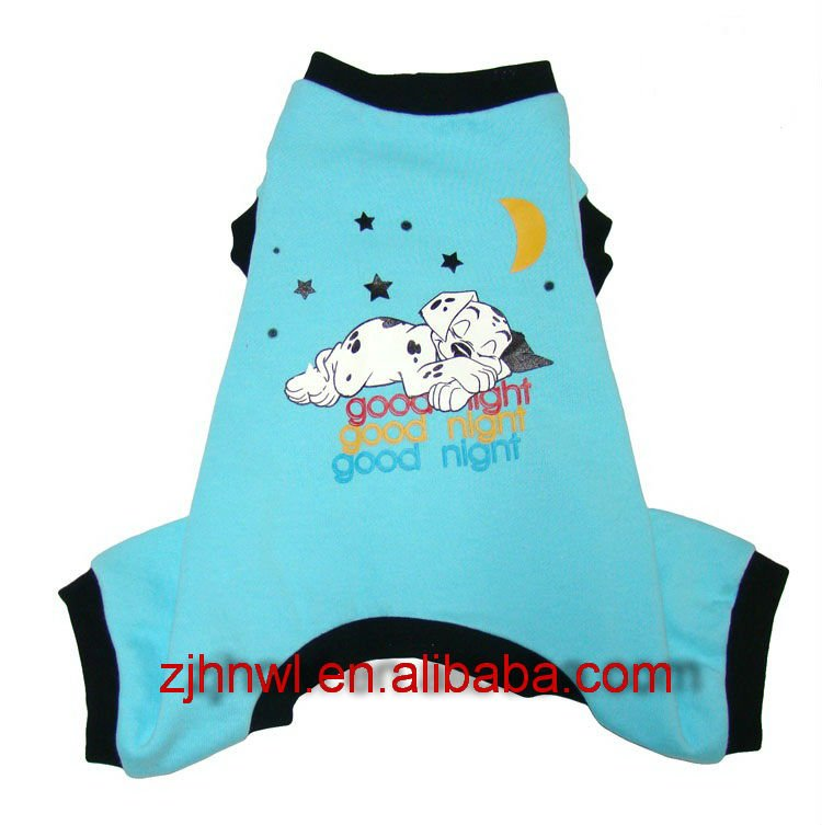 2017 blue boy's pajamas/pet cloth/winter pajamas