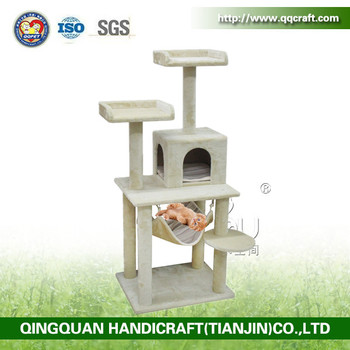 Aimigou Cat tree with beige Scratching post made of natural sisal