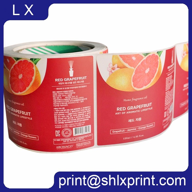 Custom Printed Roll Adhesive Bottle Sticker For Automatic Label Sticker Machine