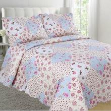 Microfiber Hotel Embroidery Bed Sheet Patchwork Quilt