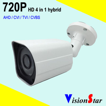 Hybrid 4 in1 cctv security 1.0mp outdoor bullet hd 720p camera