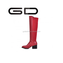 GD Women's Boots,New Sexy Knee High Chunky Boots,thicken plush casual snow boots Large size winter shoes