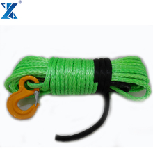 J-MAX 12mm*30M synthetic rope winch with 1M protect sleeve stainless steel thimble,nose end lock 4x4 car