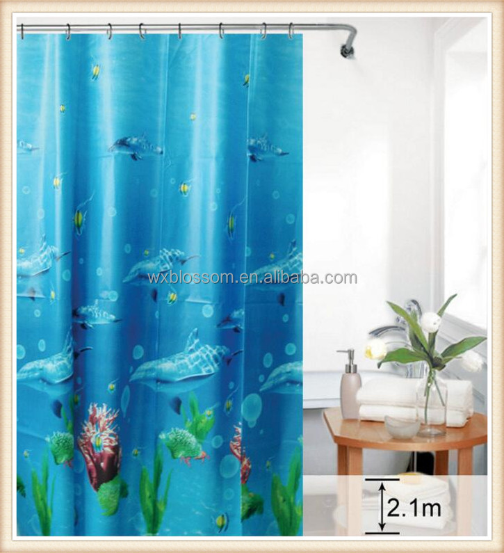 Underwater world 100% PEVA fabric for shower curtains