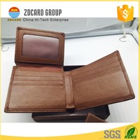 Blocking Brown Leather RFID Wallets