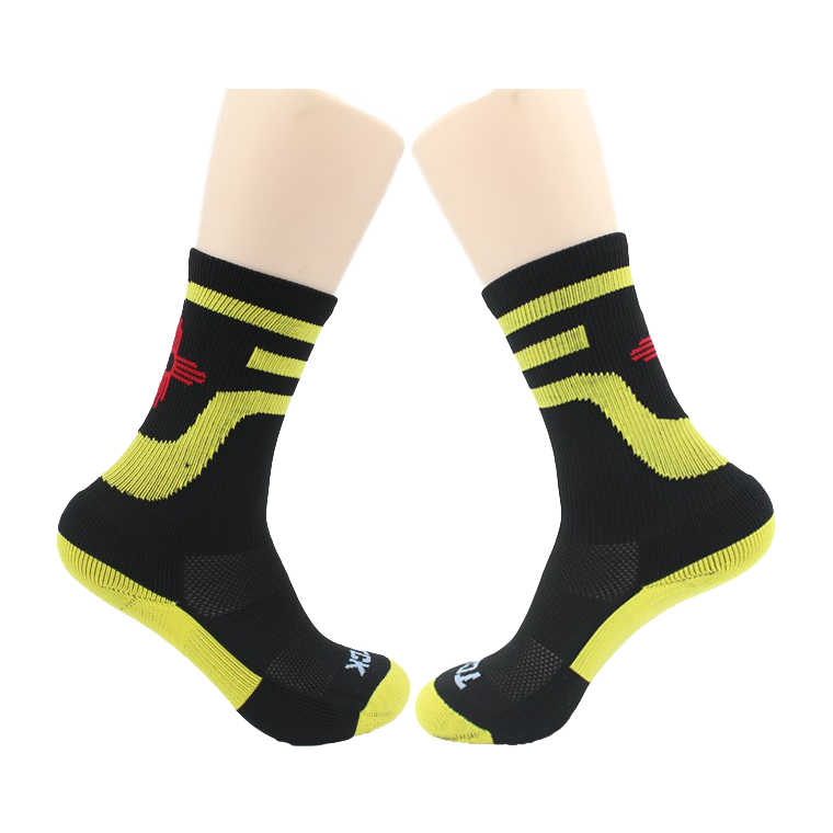 Compression sport socks men OEM services thick 100 cotton autumn season socks