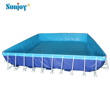 Custom above ground metal steel frame swimming pools for adult and kids, water park metal frame inflatable swimming pool
