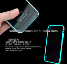 "Luminous fluorescent Ultra-thin Clear Bumper PC Frame Case For iPhone 5 5"" 5G"