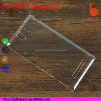 Wholesale cell phone accessory plastic back cover for Sony xperia C3 case
