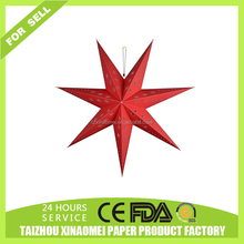Holiday lighting string paper star lanterns Christmas decoration paper star lantern
