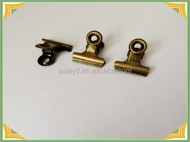 china factory bronze round metal clips for stationary accessories