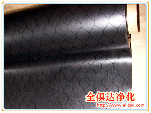 Black/Clear Antistatic Vinyl Sheet Curtain Printed With Carbon Lines