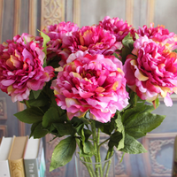 Single high quality artificial flower silk peony flowers wholesale