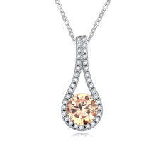 New arrival 18K white gold plated meaningful pendant necklace for women