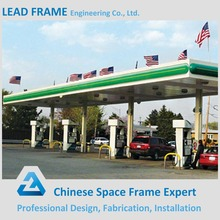 Beautiful design steel structure prefabricated petrol station