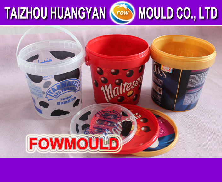 1L plastic transparent water bucket mold/mould