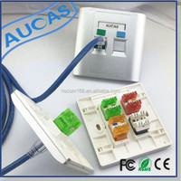 Aucas good quality RJ45 RJ11 one port/two ports network faceplate cheap
