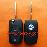 High Quality VW 2 button remote key shell without panic (1616 battery Small battery),VW remote key blank,VW key case