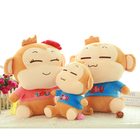 custom plush and stuffed monkey plush toy