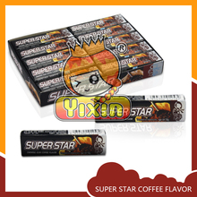 Super star coffee flavor chewing gum manufacturers in china