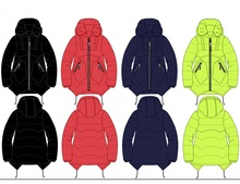 fashionable oem service winter cotton padded jacket for baby girls