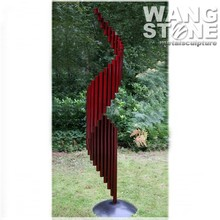 Stainless Steel Tube Modern Garden Abstract Metal Sculpture