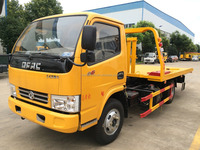 small flatbed truck road recovery truck wrecker tow vehicle