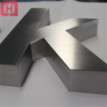 Custom 3d stainless steel letter sign free standing metal letters