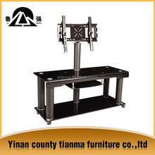 china factory sale directly living room furniture tempered glass tv stand with wheels,tv table TV31