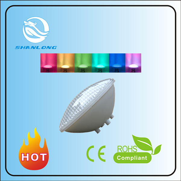 2016 zhngshan IP68 best quality Color Changing Remote control 15w led par56 swimming pool lights