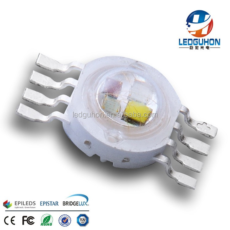 8W RGBW high power led with 8 pins used for car led lighting