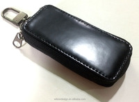 Classic man's black genuine leather key wallet case professional manufacturer