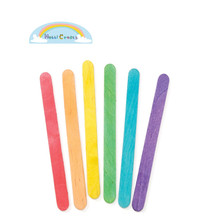150mm x 20mm x 2mm colored Bamboo Wood Ice Cream Stick for Kids