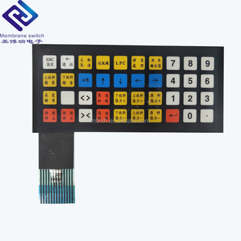 Embossing Buttons Digital Printing Membrane Switch Numeric Keypad