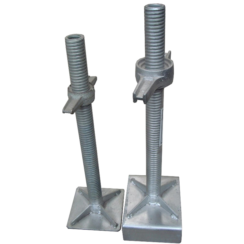 Scaffolding shoring jack base solid & hollow screw jack base