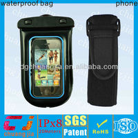 PVC waterproof mobile case for iphone with armband