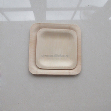 Wholesale Square Disposable Bamboo Plates / Dishes,Square Veneerware Plates Eco-Friendly and Disposable for Home and Catering