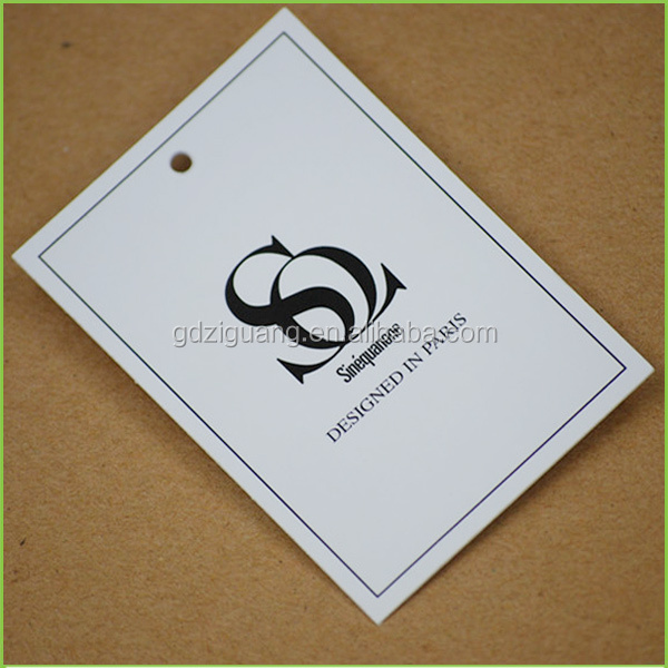 High quality paper printing garment tag design