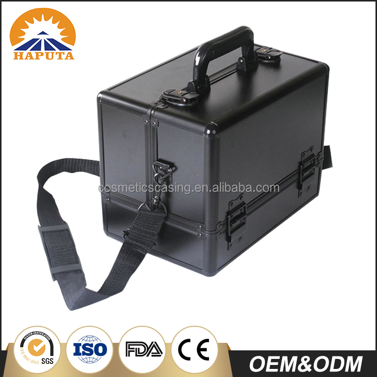 Professional Barber High Quality Factory Custom Empty Makeup Cosmetic Barber Case and Box