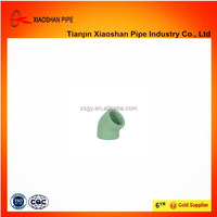 ppr plastic pipe fittings 45 degree elbow 63mm