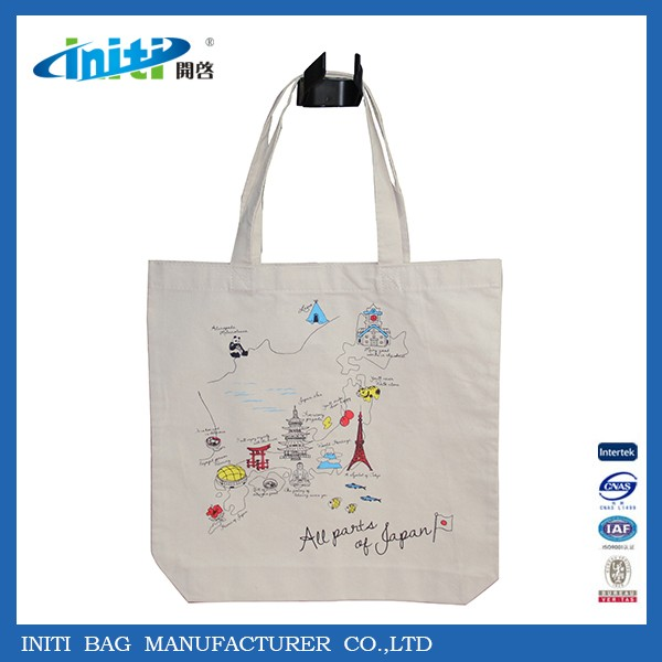 2016 hottest selling Eco friendly organic cotton bag for Europe market