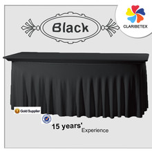 Spandex black table cover Rectangle Statafelhoed Wave for wedding