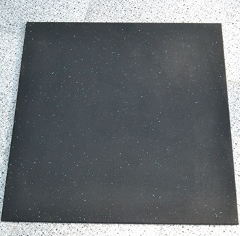 Premium Rubber Gym Flooring Mats, Protective Flooring for Gym Equipment and Cushion for Workouts