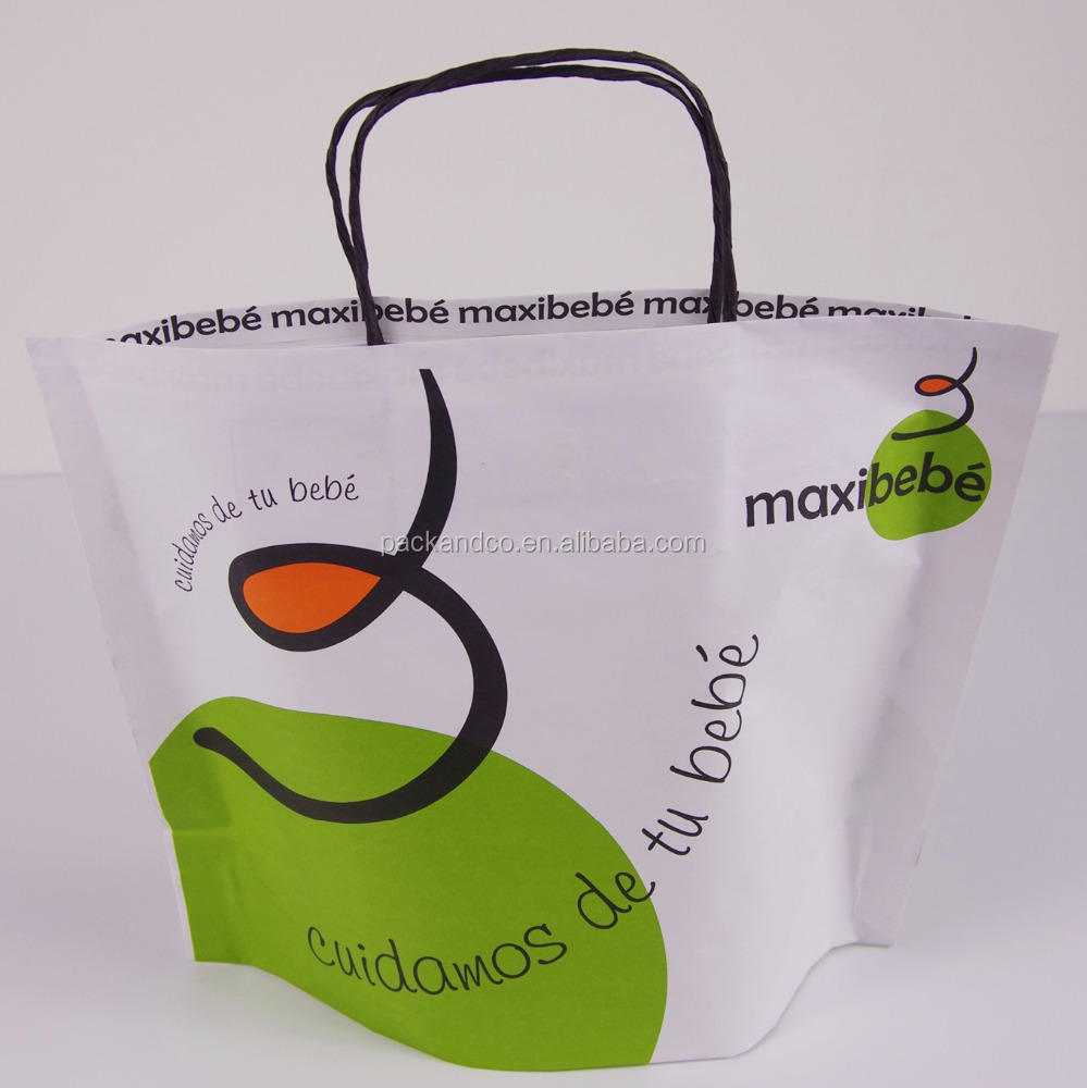 shopping packaging customized retail kraft paper bag