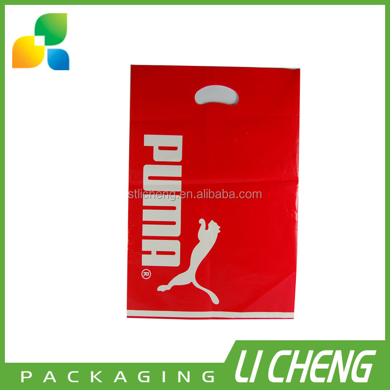 High quality and custom print handle bag /plastic handle bag