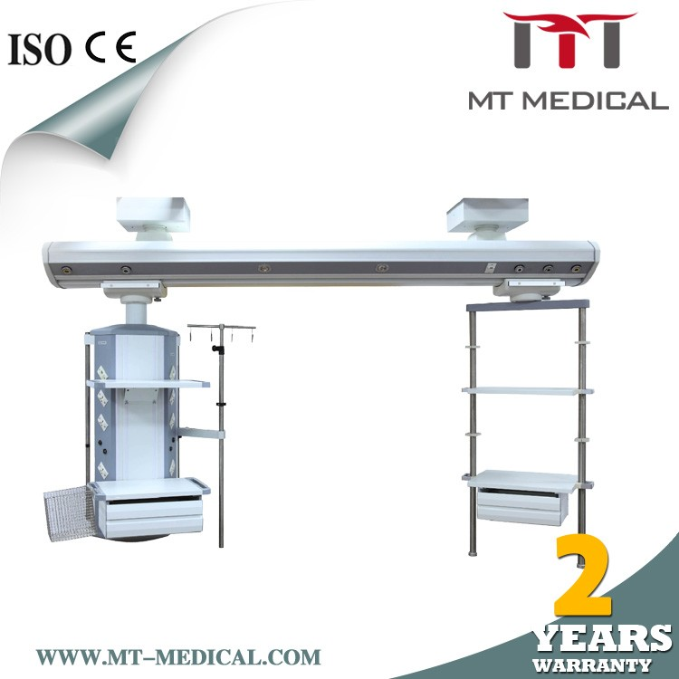 ABS Movable Hospital Bedside Table medical cabinet