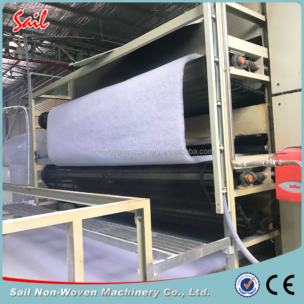 Thermal bonded wadding making machine for polyester fiberfill wadding