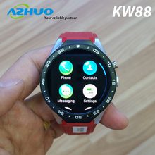 Newest 3G Smartwatch MTK6580 With Camera Wifi 1.39'' Amoled KW88 With Android 5.1 Bluetooth 4.0